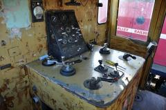 The main control desk of Emu Bay Railway locomotive No. 21, as preserved at the Derwent Valley Railw