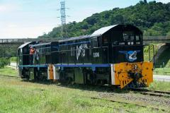 CairnsRail locos 1006 and 1105 were photographed during shunting operations at Redlynch near Cairns