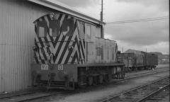 VA3 sits in the yard at Ulverstone, sometime in the early 1970s