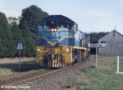 1107 leads a loaded Primrose concentrates train through Pigeon Hill. July 1999
