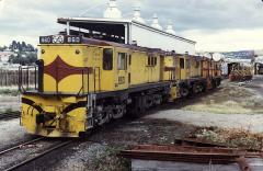 Locos 860, 859 & 865 await their next turn of duty at the old Launceston workshops, March 1981. Only
