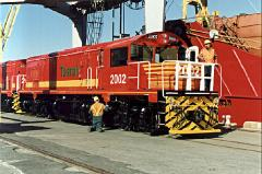 DQ2002 received some initial checks on Bell Bay wharf shortly after unloading