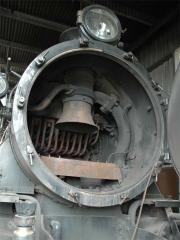 An unusual photo of the smokebox of M5 after removal of the baffle plates.
