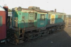 Ex ATN (now PN) owned loco 845 stored at Dynon Workshops, Melbourne. December 2006