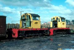 With their motors sold and removed, the remains of the two W class sit at Launceston workshops befor