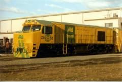 Almost brand new ZR2 waits to depart on a test run, July 1997