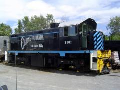 1101 shows off its Cairns - Kuranda Steam Railway black and blue livery at their Cairns depot, April
