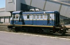 No. 21 rests in Burnie yard between trains, February 1985