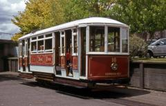 Launceston Tram No. 16 arrives at the