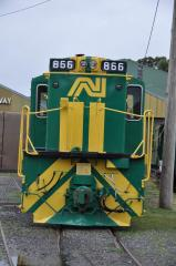 Front of 866 at Don River Railway; April 2010
