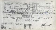 One of the TGR outline diagram for Q class locos (L12)