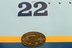 Cab side numbers and builders plate on EBR No. 22, September 1998
