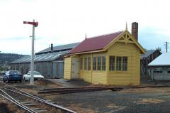The former North East Junction Signal box is one of the buildings preserved at the Inveresk site, Oc