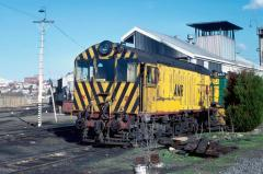 X3 sits outside the diesel workshops at Launceston, August 1983