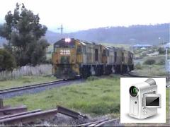 This clip shows three trains from October and November 2002, all hauled by ZA class locomotives. On