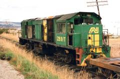 After an engine room fire three months earlier, a decrepit looking ZB9 sits on workshops bogies  in