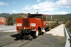 Brambles Industrial Services initially used a small road/rail shunting unit at the Boyer paper mill