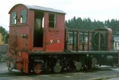Although looking like it is being scrapped, V5 is actually pictured stripped for heavy overhaul. Whe