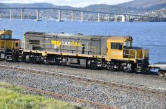 DQ2010 waits in Hobart yard prior to departure, September 2013