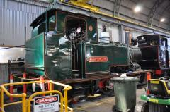 No. 5 is being reassembled following boiler inspection and maintenance at the Queenstown workshops i