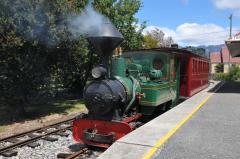 The Redwater Creek Railway's Krauss locomotive at Sheffield. January 2015